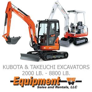 Kubota &Takeuchi Excavators